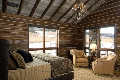 Traditional-Master-Bedroom-Design-with-Cool-Wood-Walls