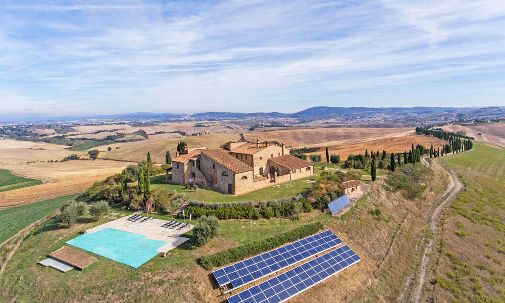 Farmhouse Asciano Tuscany Italy Luxury