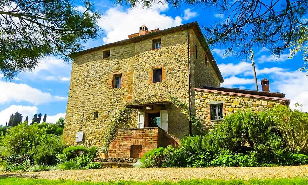 Farmhouse Tower Sinalunga Tuscany Italy